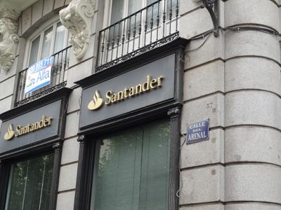 La acción del Banco Santander al 10 de diciembre de 2012: La semana comienza con debilidad